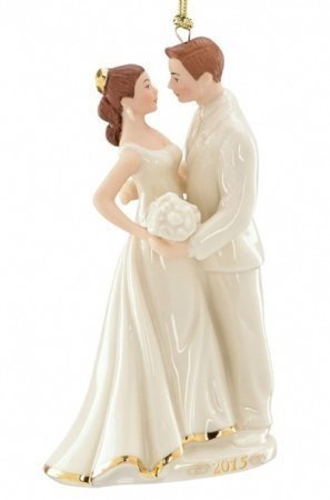 Lenox 2015 Always and Forever Bride and Groom China Ornament by Lenox