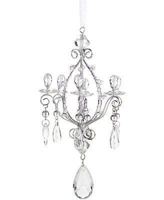 Holiday Lane Silver Chandelier Ornament