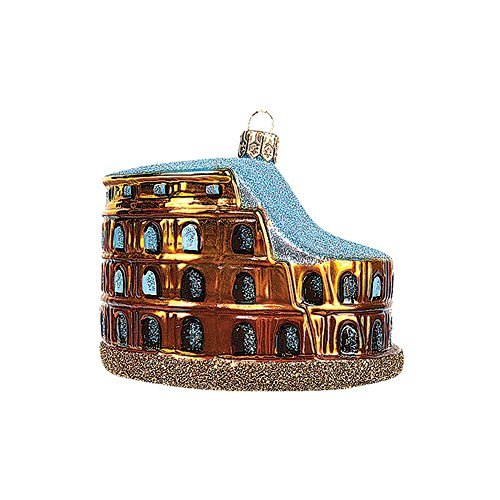 Colosseum of Rome Italy Polish Blown Glass Christmas Ornament Tree Decoration by Pinnacle Peak Trading Company