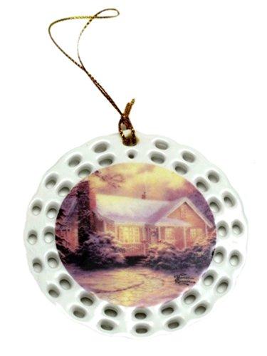 Iwgac Home Indoor Seasonal Decorative Accessories Thomas Kinkade Christmas Cottage Ornament