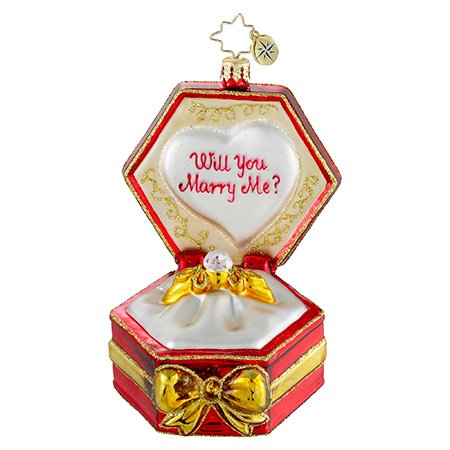 Christopher Radko Diamonds are Forever Engagement Christmas Ornament