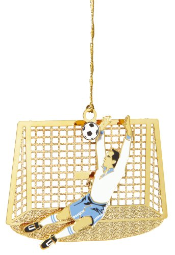 Baldwin SocceráGoalieáwith Net Sports 3-inch Sports Ornament