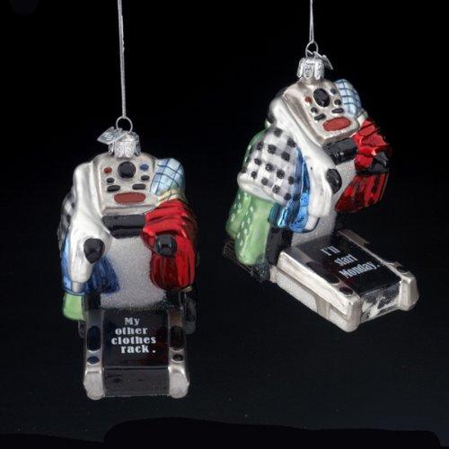 Kurt Adler 4.5″ Noble Gems Glass Treadmill Ornament