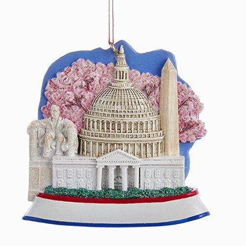 Kurt Adler 3 25″ Resin Washington DC Scene Ornament