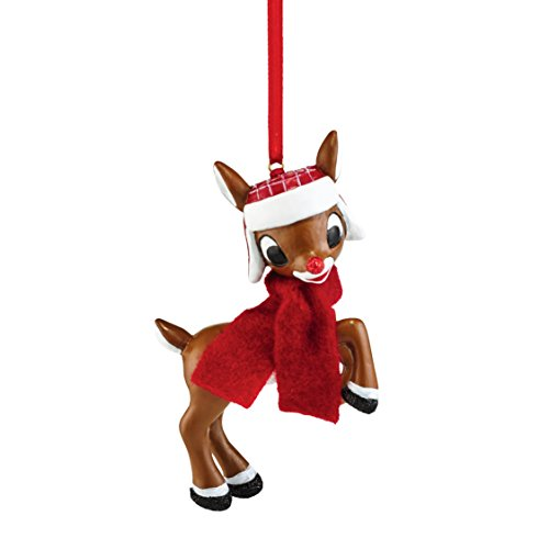 Department 56 Rudolph From Rudolph In Hat and Scarf Ornament 3.13 In