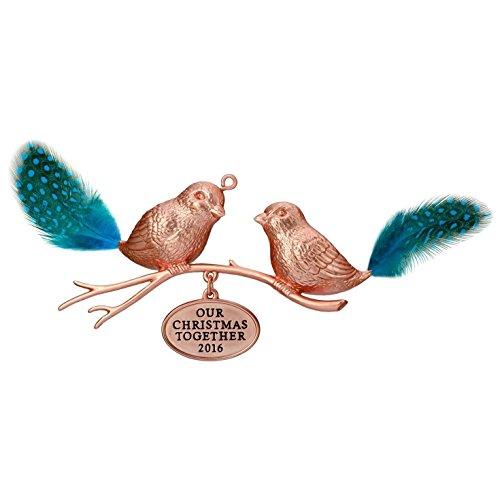 Hallmark 2016 Christmas Ornament Our Christmas Together Love Birds Ornament
