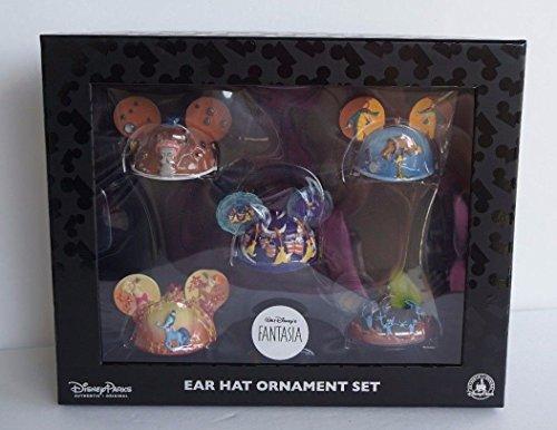 2015 – 5 Piece Disney Parks Exclusive Mickey Ears Fantasia Ornament Set