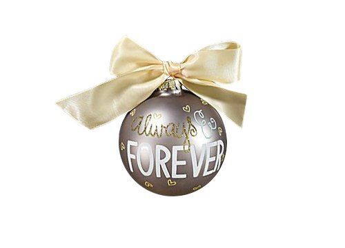 Coton Colors Always and Forever Glass Ornament