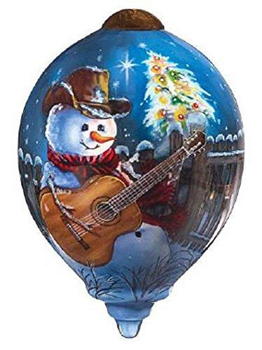 "Ne'Qwa Art, Christmas Gifts, ""Country Christmas"" Artist Dona Gelsinger, Petite Princess-Shaped Glass Ornament, #7161117"