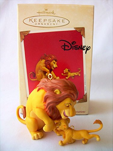 2003 Disney's The Lion King Mufasa And Simba Hallmark Ornament