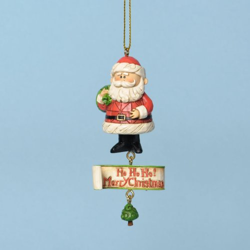 Jim Shore for Enesco Rudolph Traditions Santa Ho Ho Ho Ornament, 3.54-Inch