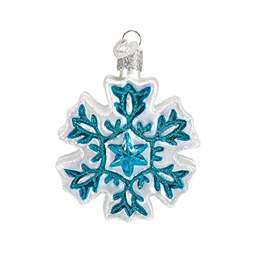 Old World Christmas Snowflakes Glass Blown Ornament, Color May Vary