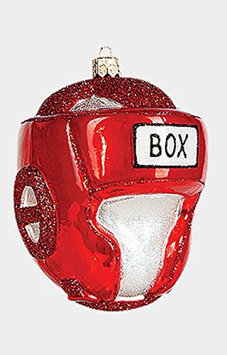 Boxing Helmet Polish Blown Glass Christmas Ornament Sports Decoration Boxer