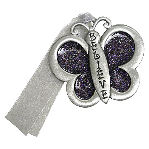 Gloria Duchin Genuine Pewter Glitter Butterfly Ornament