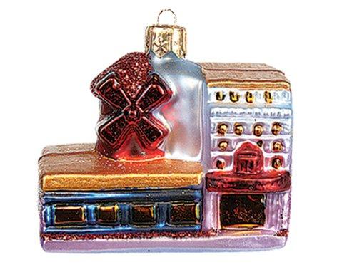 Moulin Rouge Paris France Polish Mouth Blown Glass Christmas Ornament Decoration