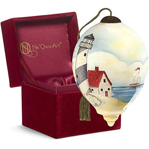 "Ne'Qwa Art, Housewarming Gifts, ""By The Beautiful Sea"" Artist Susan Winget, Petite Princess-Shaped Glass Ornament, #7161151"