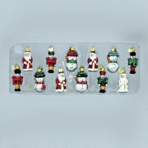 PETITE TREASURES MINIATURE GLASS ORNAMENTS 12PC. – Christmas Ornament
