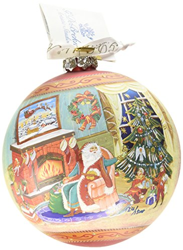 G. Debrekht Limited Edition Christmas Eve Glass Ornament, 5.5″