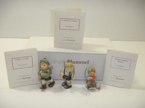 Studio Hummel Set 5 # 96035 Christmas Ornament Collection … Lullaby For Dolly , Feeding Feathered Frieds , A North Pole Address