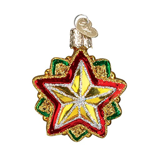 Old World Christmas Mini Star Glass Blown Ornament