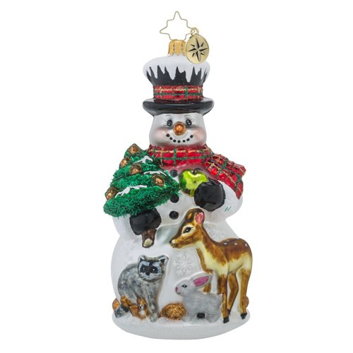 Christopher Radko Feast for Friends Snowman and Animal Christmas Ornament