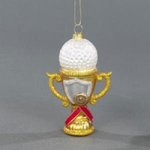 Kurt Adler 4-1/4-Inch Noble Gems Glass Golf Ball on Prize Pot Ornament