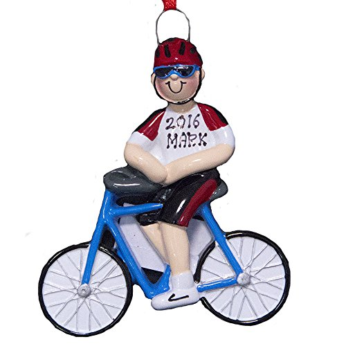Personalized Bike Ornament Boy-Free Personalization