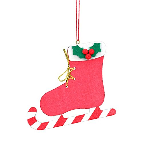 "10-0449 – Christian Ulbricht Ornament – Red Ice Skate – 2.75″""H x 2.5″""W x .25″""D"