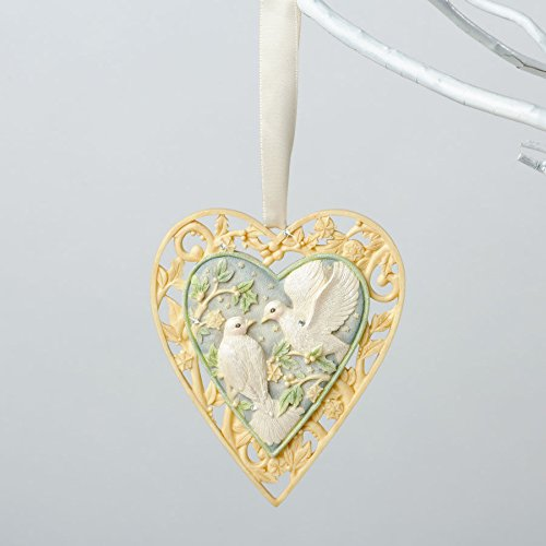 (Ship from USA) Foundations Our First Christmas Together Doves Heart Ornament 4034777 /ITEM#H3NG UE-EW23D5071