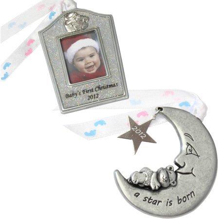 Gloria Duchin 2pc Baby Ornament Gift Set