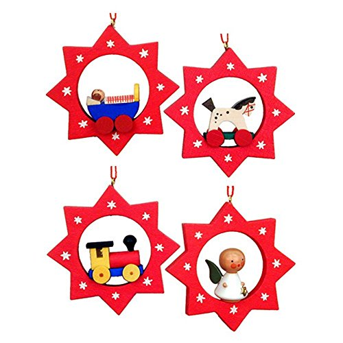 Christian Ulbricht 2.5 in. Assorted Stars Ornaments – Set of 6