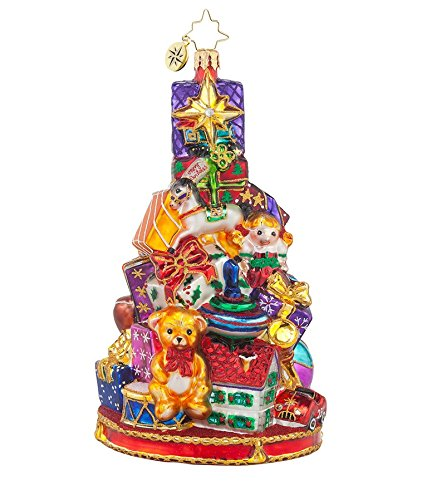 Christopher Radko Glass Glorious Gift-Stack Christmas Ornament #1017627