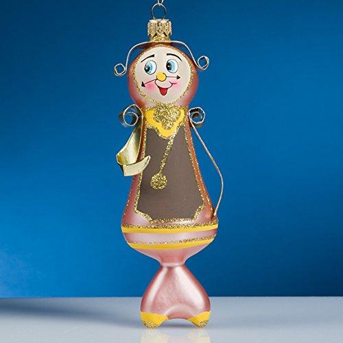 De Carlini Grandfather Clock Italian Mouthblown Glass Christmas Ornament