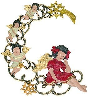 Angels German Pewter Christmas Ornament