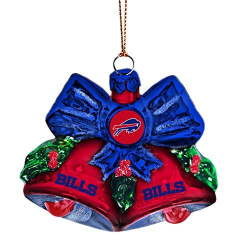 NFL Buffalo Bills Glitter Bells Ornament
