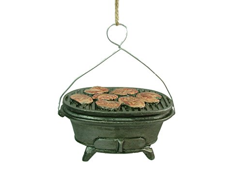 New Camping Equipment Grill Cooking Fishing Hunting Christmas Tree Ornament