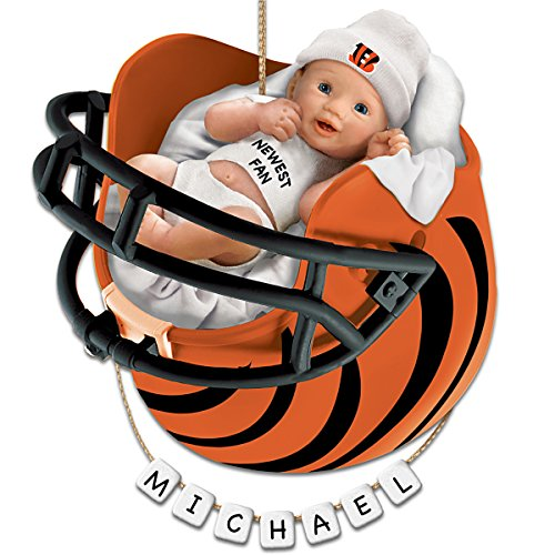 Cincinnati Bengals Personalized Baby's First Christmas Ornament by The Bradford Exchange