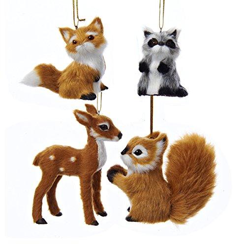 Kurt Adler 2-4″ Plush Animal Ornament 4/asstd