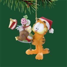 Garfield Christmas Ornament Turkey Feast
