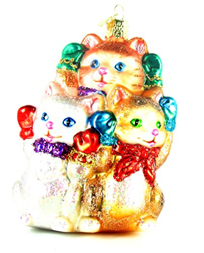 Old World Christmas Three Little Kittens Glass Blown Ornament