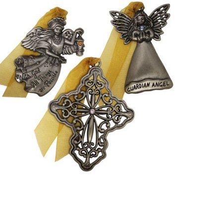 Gloria Duchin 3pc Inspirational Ornament Set 12.25 x 5.00 x 1.00 Inches