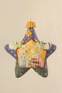Jim Shore Star with Nativity Hanging Ornament
