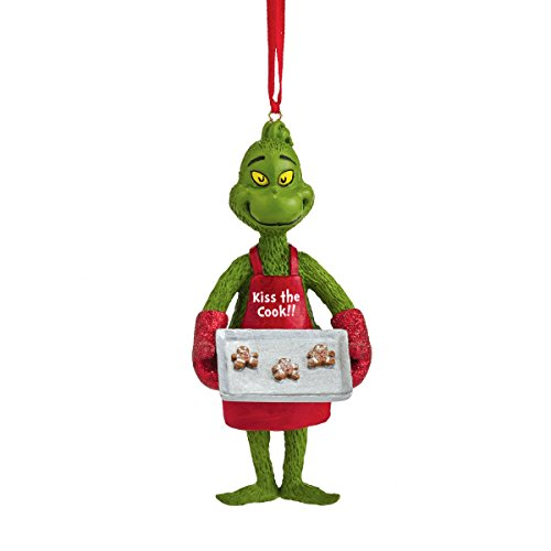Department 56 Grinch Baking Cookies Ornament, 4″