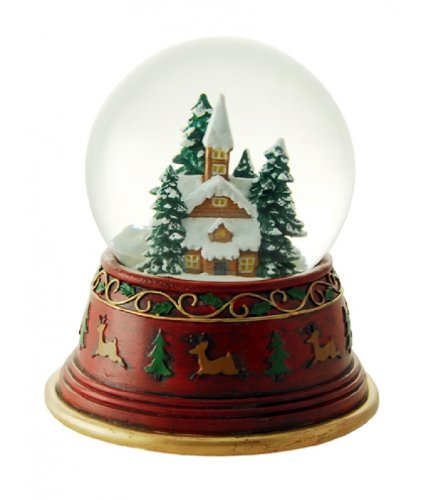 "MusicBox Kingdom 53107 Snow Globe in Scandinavian Design Music Box, Turns to The Melody ""White Christmas"""