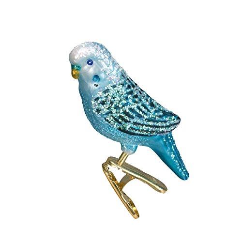 Old World Christmas Miniature Parakeet Glass Blown Ornament