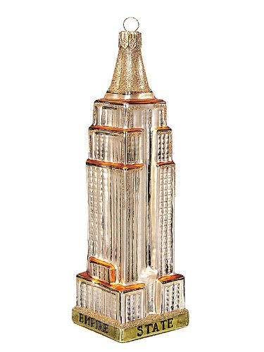 Empire State Building Polish Glass Christmas Ornament New York City Decoration