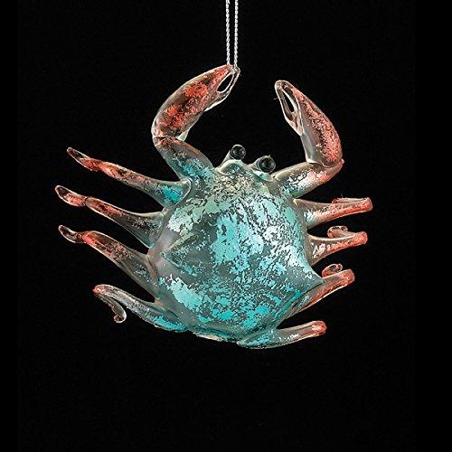 Noble Gems Blue Crab Glass Christmas Ornament Marine Ocean Sea Life NB1035 New