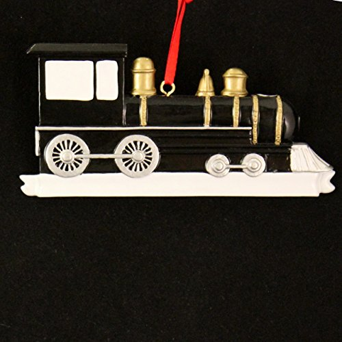 Black Locomotive Ornament