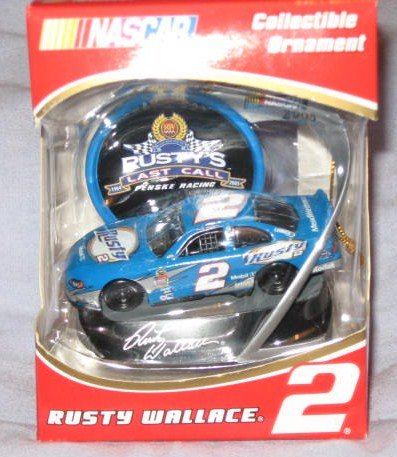 Nascar Rusty Wallace #2 1/64 Scale Die Cast and 2005 Collectible Ornament