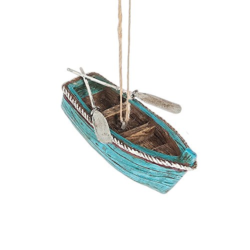 Midwest Rowboat with Oars Ornament
